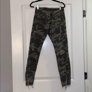 Zara army jeans